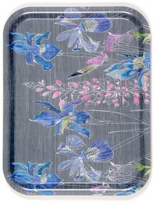 Siberian Iris Melamine Tray by Emma Britton