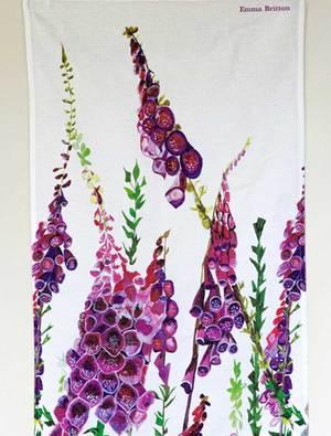 Foxglove Tea Towel