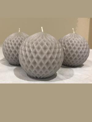 Gusto Grey Ball Candle