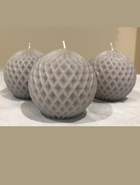 Gusto Grey Ball Candle