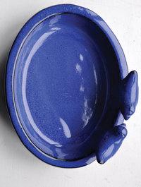 Blue-oval-ceramic-bird-bath