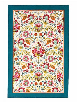 Bountiful Floral Tea Towel by Ulster Weavers
