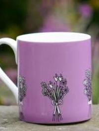 Lilac Bouquet Mug by Wiggles and Florence