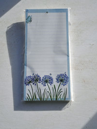 Agapanthus-magnetic-notepad