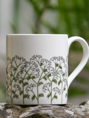 Cow Parsley Mug by Wiggles and Florence