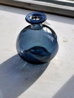 Blue Round Bud Vase by Garden Trading