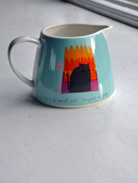 Thinking Cat Jug by Jane Ormes