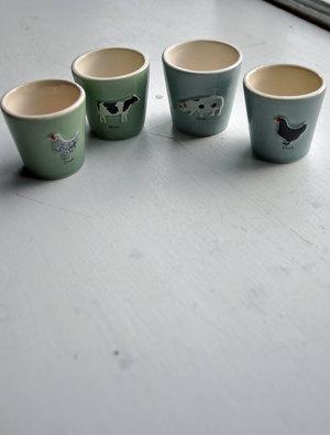Farm Animal Egg Cups
