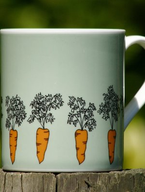 Carrot Mug by Wiggles and Florence