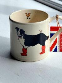 Collie Mug by Emma Lawrence