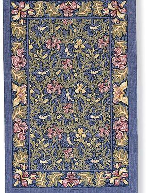 Birds and Irises Tea Towel